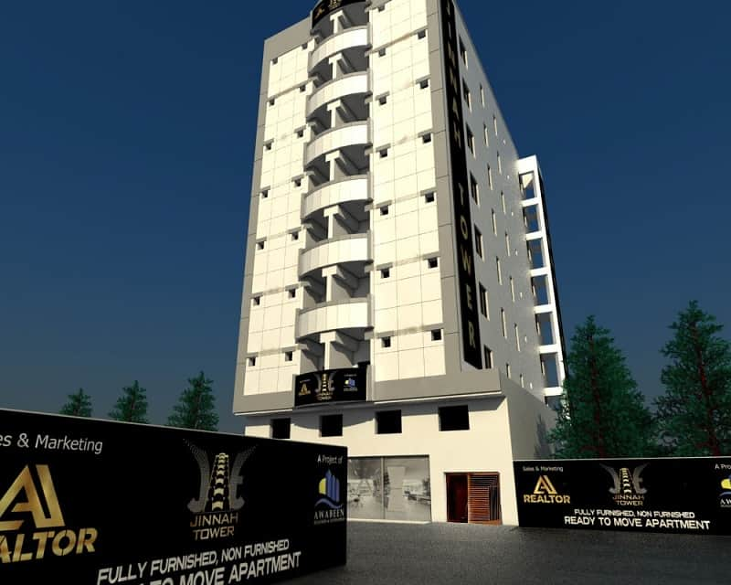 3 & 4 Room Apartments in Jinnah Tower Karachi Gulistan E Jauhar|Jinnah-Tower-Gulistan-E-Jauhar-Karachi-Flats-prices-Rates-Installment-Plans-Booking