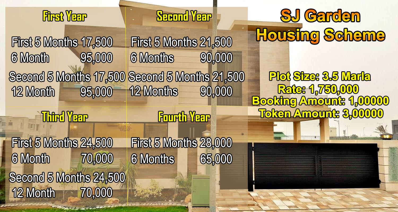 3.5 Marla Plot for Sale in SJ Garden Housing Scheme Lahore