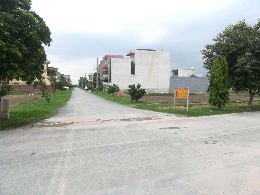 6 Marla Corner Residential Plot for Sale in Sher Zaman Block SA Gardens Lahore