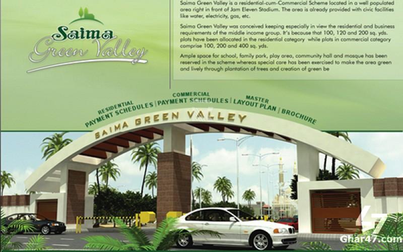 120 SQ YARDS Plot, Saima Green Valley Karachi