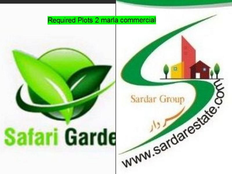 Safari Garden Lahore 2 Marla Commercial Required